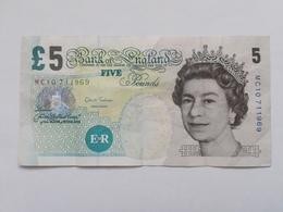 REGNO UNITO 5 POUNDS - 1952-… : Elizabeth II