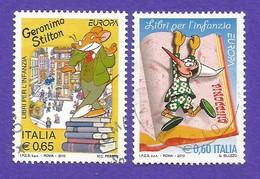 Italien / Italia  2010  Mi.Nr. 3376 / 3377 , EUROPA CEPT - Kinderbücher - Gestempelt / Used / (o) - Europa-CEPT