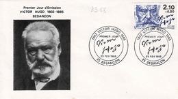 TP N° 2358 Seul Sur Enveloppe 1er Jour De Victor Hugo, Besançon - Marcophilie (Lettres)