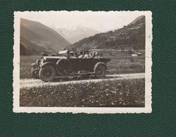 Auto Cars Passo STELVIO Torpedone Voitures Old Photo - Automobili
