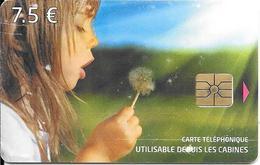 CARTE-PUCE-PUBLIC-CC-KT1-KERTEL-7.5€;-FILLETTE SEME AU VENT-V°N°GN°-12/2013-Intercall Sasu Au Dessus -BE - Frankrijk