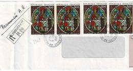 TP N° 2363 En 4 Ex Sur Enveloppe En Recommandé De Plouguenast - Postmark Collection (Covers)
