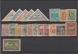 Estonia ,Posta Aerea ,nuovi MNH (nr.7-11B) +15 Esemplari Nuovi Con Linguella - Estonia