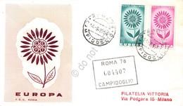 FDC Rodia Repubblica 1964 - Europa CEPT - Raccomandata Viaggiata - Francobolli