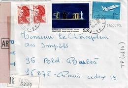 TP N° 2364 Et 2372 Sur Enveloppe En Recommandé De Touzac - Marcophilie (Lettres)