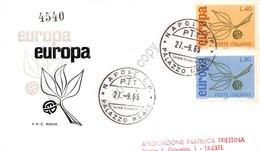 FDC Rodia Repubblica 1965 - Europa CEPT - Raccomandata Viaggiata - Francobolli