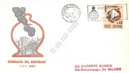 FDC Rodia Repubblica 1965 - Giornata Del Risparmio - Non Viaggiata - Francobolli