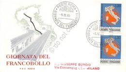 FDC Rodia Repubblica 1965 - Giornata Del Francobollo - Annullo Tematico - Francobolli