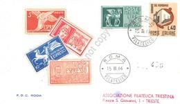 FDC Rodia Repubblica 1966 - Espresso 150 Lire - Raccomandata Viaggiata - Francobolli