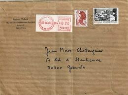 TP N° 2365 Et Marianne Sur Enveloppe De Montrouge-Vache Noire - Marcophilie (Lettres)