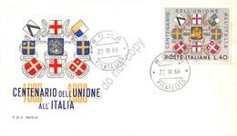FDC Rodia Repubblica 1966 - Unione Veneto Mantovano All'Italia - Non Viaggiata - Francobolli