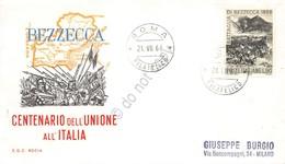 FDC Rodia Repubblica 1966 - Battaglia Di Bezzecca - Viaggiata - Francobolli
