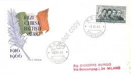 FDC Rodia Repubblica 1966 - Battisti Chiesa Filzi Sauro - Viaggiata - Francobolli