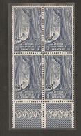 Bloc De 4 + Marges A.E.F.( Forêt) Yt 220  1947  PARFAIT  ETAT  R/V - A.E.F. (1936-1958)