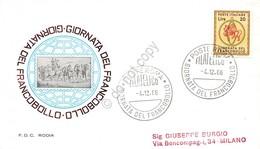 FDC Rodia Repubblica 1966 - Giornata Del Francobollo - Ann. Tematico Viaggiata - Francobolli
