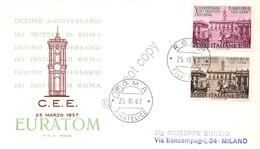 FDC Rodia Repubblica 1967 - Decennale Dei Trattati Di Roma - Non Viaggiata - Francobolli