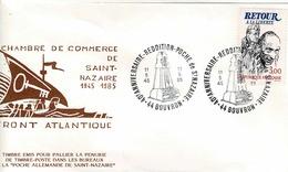TP N° 2369 Seul  Sur Enveloppe Du 40ème Anniversaire De La Reddition De St Nazaire, Cachet De Bouvron - Postmark Collection (Covers)
