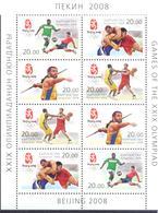 2008. Kyrgyzstan, Olympic Games Beijing, Sheetlet Of 2 Sets, Mint** - Kirgisistan