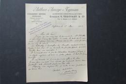 Factuur Invoice Arthur Ameye - Tyman  Gent Zaffelare 1901 Horticole Horticulteur Exposition Paris 1900 - Belgique