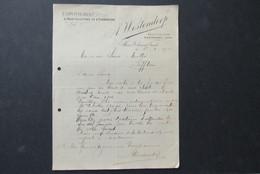 Factuur Invoice Westendorp  Gent  1906 Horticole Horticulteur Horticulture - Belgique