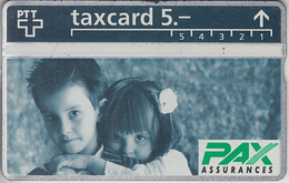 SUISSE - PHONE CARD - TAXCARD-PRIVÉE ***  PAX-ASSURANCES 1 *** - Svizzera