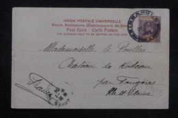 MALAISIE - Affranchissement De Singapore Sur Carte Postale En 1903 Pour La France - L 27782 - Straits Settlements