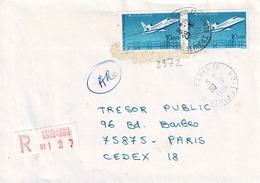 TP N° 2372 En Paire Sur Enveloppe En Recommandé De Paris18 - Postmark Collection (Covers)
