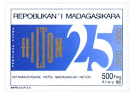 Ref. 262386 * NEW *  - MADAGASCAR . 1995. 25 ANIVERSARIO DEK HOTEL MADAGASCAR HILTON - Madagascar (1960-...)