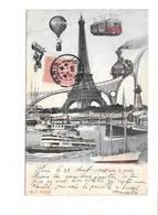 """""""Paris à Venir""""Tour Eiffel,Métro,Train,Ballon,Dirigeable,Vélo,Bateau,Vapeur,à Roue,Voilier,Santos Dumont, Expédition. - France"""
