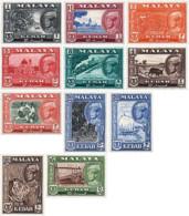 Ref. 55421 * NEW *  - MALAYSIA. KEDAH . 1959. BASIC SET. SERIE BASICA - Malasia (1964-...)