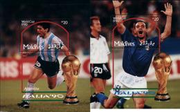 Ref. 220930 * NEW *  - MALDIVES . 1990. FOOTBALL WORLD CUP. ITALY-90. COPA DEL MUNDO DE FUTBOL. ITALIA-90 - Malediven (1965-...)