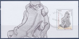 = Auguste Rodin, Le Baiser, Bloc Souvenir Dans Encart Double, Timbre Faciale 1.30€ BS 137 Timbre 5168 Oblitéré - Blocks & Kleinbögen