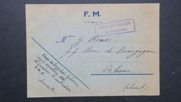 """Carte Franchise Militaire Luneville Fevrier 1940 Griffe """" Depot De Cavalerie Vaguemestre """" Pour Orleans - Marcophilie (Lettres)"""