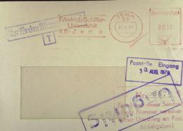 """DDR: ZKD-Fern-Brief Mit AFS =DP 0030= Jena 29.8.78 """"Fr.Schiller Uni""""mit Rotem Bearbeitungs-Stpl. Und Viol.""""Ungültig""""-St. - [6] Democratic Republic"""