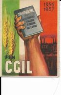 6-SINDACATI-CISL-1956-1957-PERFETTA CON TUTTI I BOLLINI ORIGINALI - Organizations