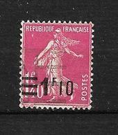 "FRANCE. 1925  N°228   "" Type Semeuse Lfond Plein ""    Oblitéré - 1906-38 Semeuse Camée"