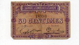 Cahors (46 Lot) Chambre De Commerce: Billet De 50 Centimes 1915 (PPP18015) - Chambre De Commerce