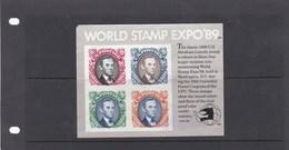 Etats Unis BF World Stamp Expo 89 MNH - Hojas Bloque