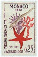 Ref. 51793 * NEW *  - MONACO . 1961. FIRST WORLD AQUARIOLOGY CONGRESS. PRIMER CONGRESO MUNDIAL DE ACUARIOLOGIA - Mónaco