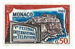 Ref. 77490 * NEW *  - MONACO . 1964. 5th MONTECARLO INTERNATIONAL TELEVISION FESTIVAL. 5 FESTIVAL INTERNACIONAL DE TELEV - Mónaco