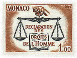 Ref. 32383 * NEW *  - MONACO . 1964. 15th ANNIVERSARY OF THE DECLARATION OF HUMAN RIGHTS. 15 ANIVERSARIO DE LA DECLARACI - Mónaco