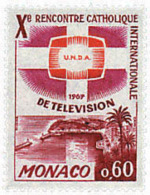 Ref. 32427 * NEW *  - MONACO . 1966. 10th CATHOLIC CONGRESS. 10 CONGRESO CATOLICO INTERNACIONAL DE TELEVISION - Monaco