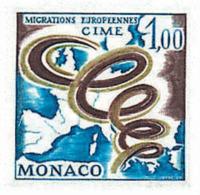 Ref. 32391 * NEW *  - MONACO . 1967. INTERGOVERNMENTAL COMMITTEE FOR EUROPEAN MIGRATIONS. COMITE INTERGUBERNAMENTAL POR - Monaco