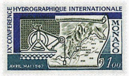 Ref. 32440 * NEW *  - MONACO . 1967. 9th INTERNATIONAL HYDROGRAPHIC CONFERENCE. 9 CONFERENCIA HIDROGRAFICA INTERNACIONAL - Mónaco