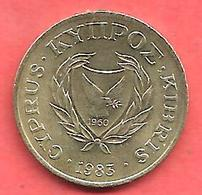 2 Cents , CHYPRE , Nickel-Bronze , 1983 , N° KM # 54.1 - Chypre