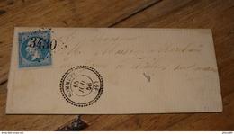 Lettre Cachet De SOMMEPY, GC3480, De 1866…........... PHI ......…T34 - Storia Postale