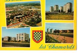CPM, (28), DREUX, Les Chamards, Multivues, écrite, Timbrée - Dreux