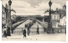 CPA  De  SAINT-QUENTIN  (02)  -  Le  Canal  Avec  Des  Péniches    //   TBE - Saint Quentin