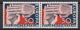 Europa Cept 1962 Liechtenstein 1v (pair) ** Mnh (LI246H) - 1962