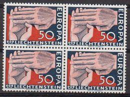 Europa Cept 1962 Liechtenstein 1v Bl Of 4 ** Mnh (LI246M) - 1962